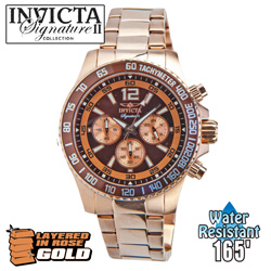 Invicta Rosegold Diver Chronograph Watch  Model# 7411