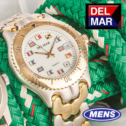 Del Mar 2 Tone Nautical Watch  Model# 50127