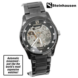 Steinhausen Brahams Skeleton Watch  Model# TW8372L