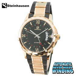 Steinhausen Automatic Watch - Gold/Black  Model# TW1301GL