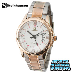 Steinhausen Automatic Watch - Rose Gold/Silver  Model# TW1301RGW
