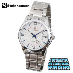Steinhausen Automatic Watch - Silver/White  Model# TW1301SWS
