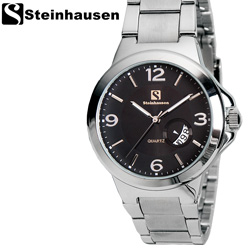 Steinhausen Black Calendar Watch  Model# TW8529SLM