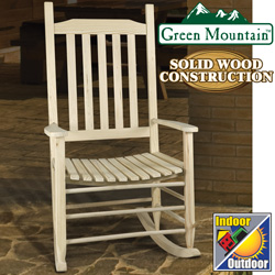 Unfinished Wood Rocking Chair  Model# JR0801-3-N