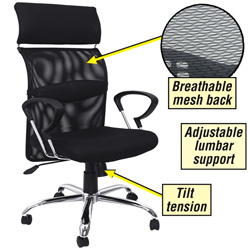 Regency High Back Mesh Chair  Model# 5600