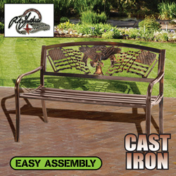 Bronze Cast Iron Freedom Bench  Model# 50104260
