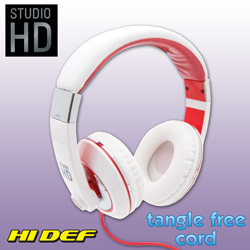 Studio HD DJ Headphones - White  Model# STUDIOWHITE
