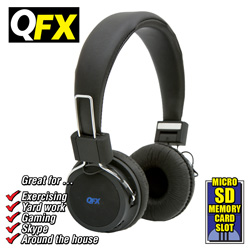 QFX Folding Stereo Headphones  Model# H-55-BLACK