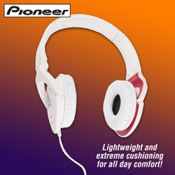 Pioneer Steez Headphones - White  Model# SE-MJ7211-W