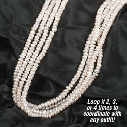 100 inch White Pearl Necklace&nbsp;&nbsp;Model#&nbsp;100-PRL