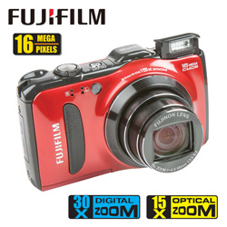 Fuji 16MP Digital Camera&nbsp;&nbsp;Model#&nbsp;F600EXR-RED