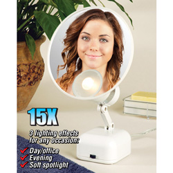 15X Magnifying Light Mirror  Model# FL-615