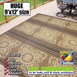 Patio Mat - 9ft.x12ft.  Model# M27674L9000