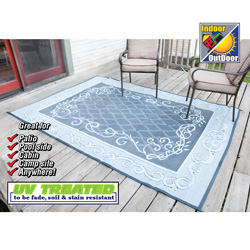 Blue Vine Patio Mat - 6x9ft.  Model# M20188011000