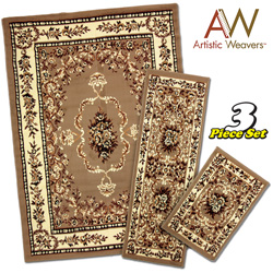 3-Piece Apex Rug Set - Tan  Model# AWAPEX2005-3PC