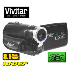 8.1MP HD Camera/Camcorder with Night Vision&nbsp;&nbsp;Model#&nbsp;DVR-920HD-BLK/KIT-AMX
