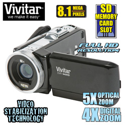 Vivitar HD Camcorder  Model# DVR949-BLK/KIT-AMX