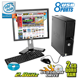 Dell Desktop with 19 inch Monitor&nbsp;&nbsp;Model#&nbsp;GX520 W/19