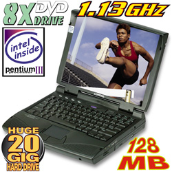Compaq 1.13GHz Laptop Computer  Model# H113GLPDVD