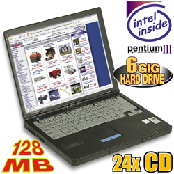 Compaq Pentium III 500MHz Notebook Computer&nbsp;&nbsp;Model#&nbsp;H500LPR
