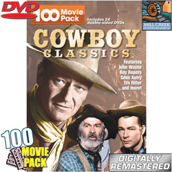 Cowboy Classics 100 Movie Pack&nbsp;&nbsp;Model#&nbsp;MV11123