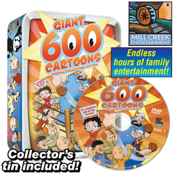 Giant 600 Cartoon Pack In Collectors Tin  Model# MV50649