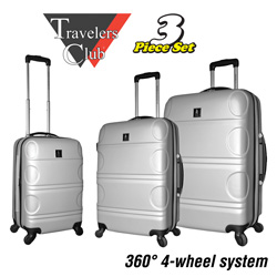 Silver ABS Luggage Set  Model# PR-67103-EX