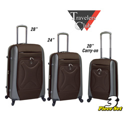 3-Piece Hybrid Luggage Set&nbsp;&nbsp;Model#&nbsp;PR-11903-EX-201