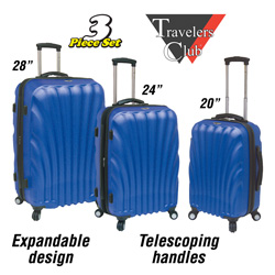 3-Piece Oceanside Luggage Set  Model# HS-65703-EX