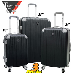Travelers Club 3-Piece Luggage Set  Model# HS-66903-EX BLACK
