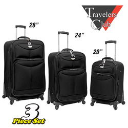 3-Piece Expandable Luggage Set  Model# EVA-22103-EX-BLACK