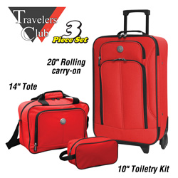 Euro 3-Piece Luggage Set&nbsp;&nbsp;Model#&nbsp;EVA12003-600