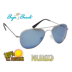 Silver/Blue Aviator Style Sunglasses  Model# ML512