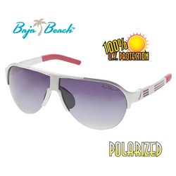 Baja Beach® Silver/Red Sunglasses  Model# BFS479