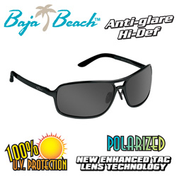 Baja Beach Black Aluminum Sunglasses  Model# XD109 BLACK