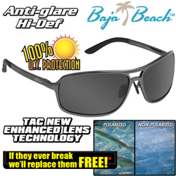 Baja Beach Aluminum Sunglasses  Model# XD109