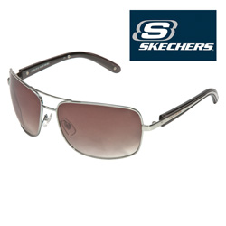 Silver/Black Skechers Sunglasses  Model# SK5006-SI134