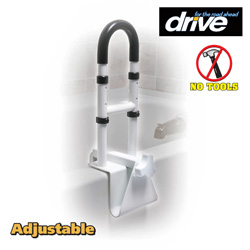 Adjustable Clamp-On Tub Rail  Model# 12036-ADJ