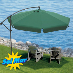 Solmar Cantilevered Umbrella  Model# KFHU-001-G