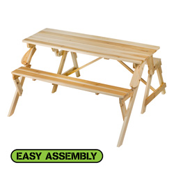 Convertible Picnic Table/Bench&nbsp;&nbsp;Model#&nbsp;TG02763C