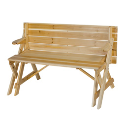 Convertible Picnic Table/Bench  Model# TG02763C