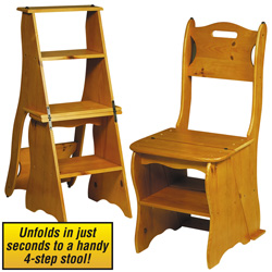 Convertible Wooden Chair/ Ladder  Model# WDSTEPLAD
