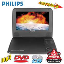 7 Inch Portable DVD Player  Model# PET741W