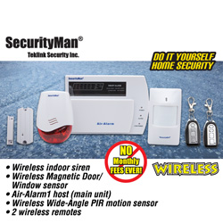 Wireless Home Alarm System  Model# AIR-ALARM1