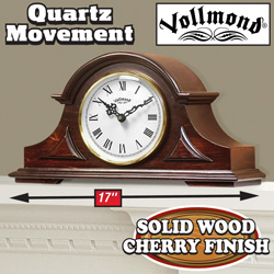 Vollmond Cherry Mantle Clock  Model# YM018