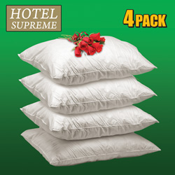 Pack of 4 Down Pillows  Model# 95/5 WDF/WDD-STAND