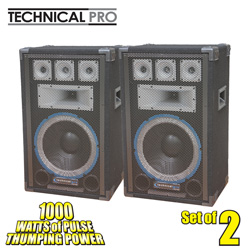 Technical Pro Professional Carpet Speakers  Model# VRTX12