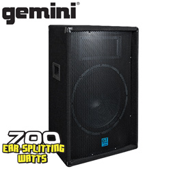 Gemini 15-inch Carpeted Speaker  Model# GT-1504