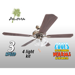 Aloha Antique Brass Ceiling Fan - 52 inch  Model# 79757