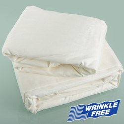 Ivory Microfiber Sheet Set - Twin  Model# MFQB75-IVY-T-CA
